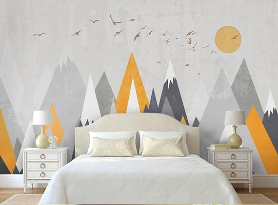Best Kids Mountain Removable Wall Mural Triangle Mountain For 400 x 300