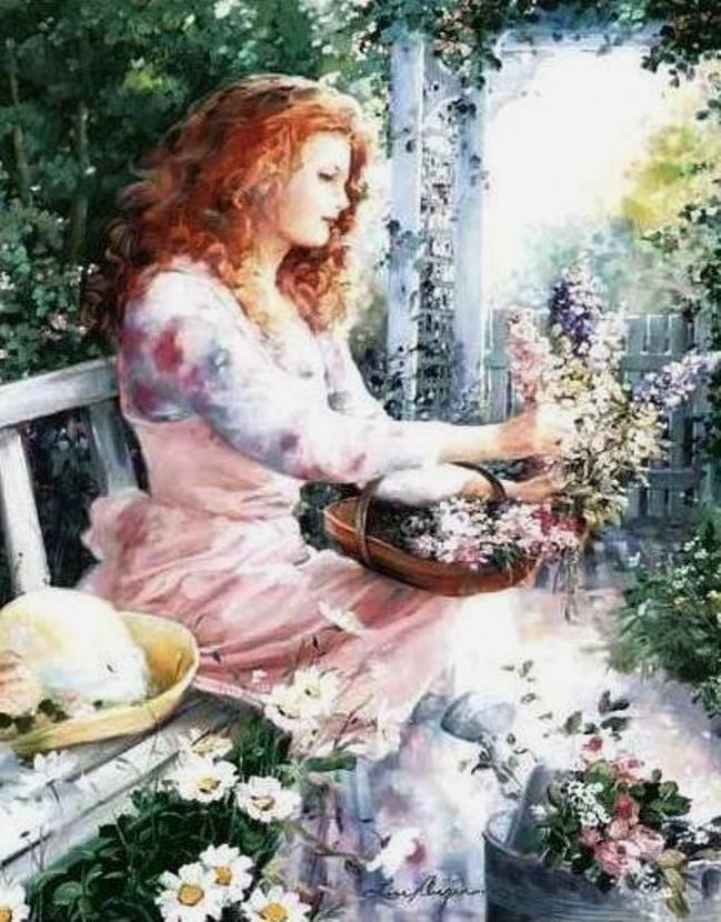 Romantic Garden by Lise Auger
