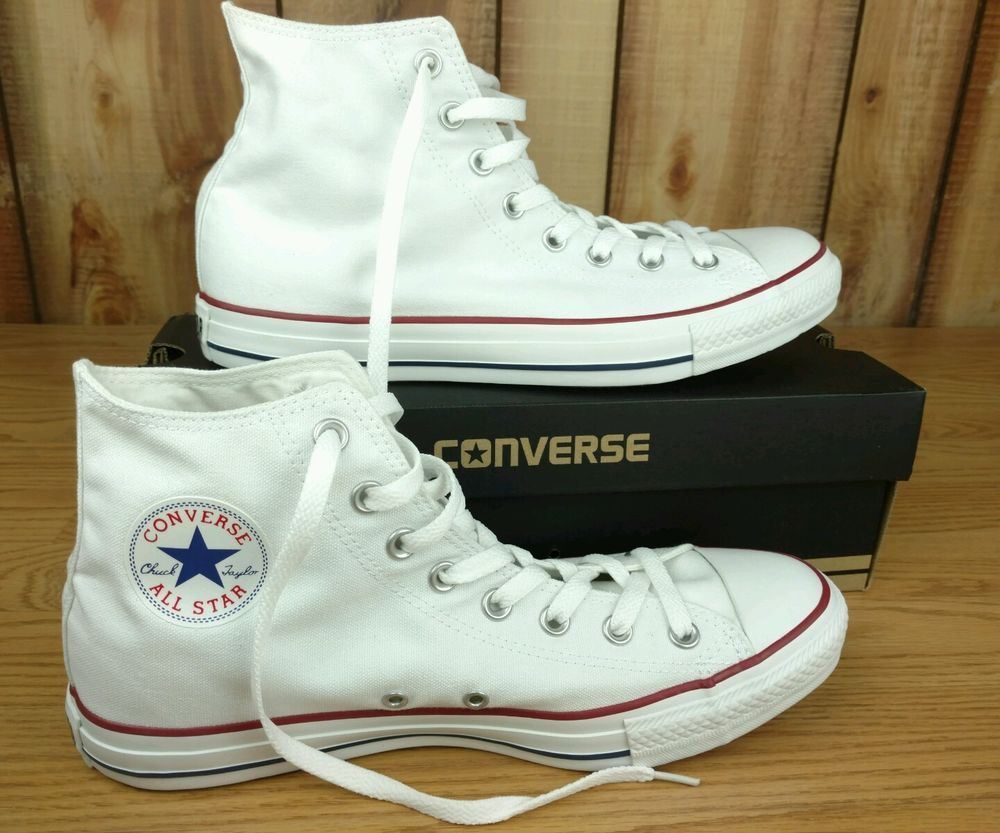 36bc272e47a82 Converse Classic Chuck Taylor All Star Hi Top Optical White Mens ...