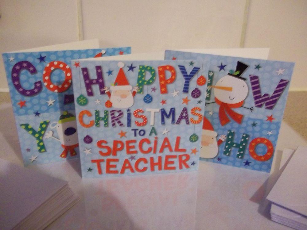 31 X CHRISTMAS GREETINGS CARDS SNOW HOHO COOL YOLE WITH ENVELOPES Christmas Greeting Cards