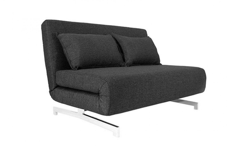 Canape Convertible Design Stockholm Noir Gris Anthracite 120