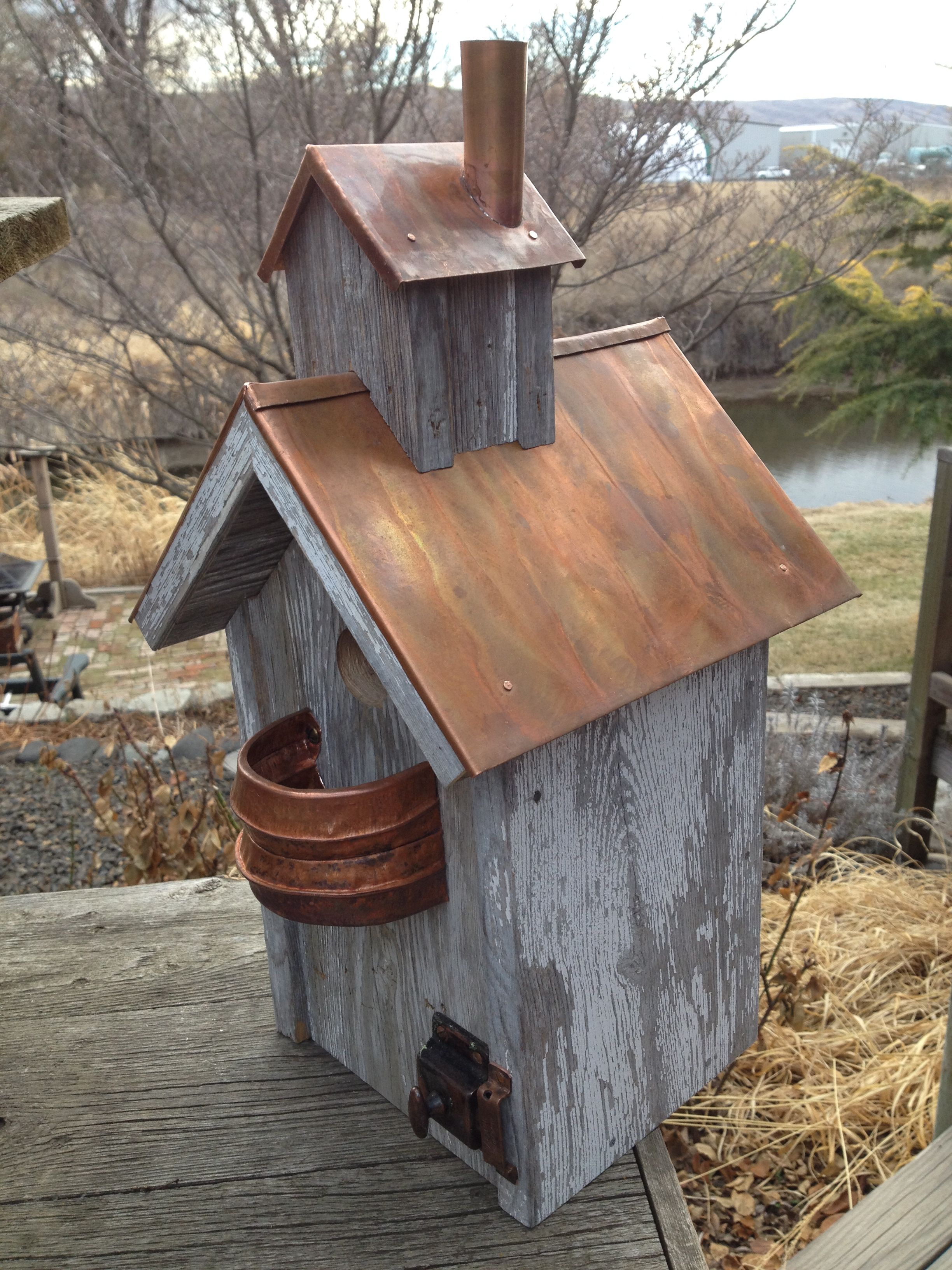 Stunning Copper Roof Decorative Bird Houses Bird House Feeder Bird House