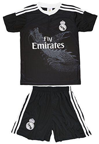 2014 2015 Real Madrid Kids RONALDO  7 All Black Away Alternate Jersey    Shorts Kit Youth Sizes (L (Ages 8-9)) 5db1208c6