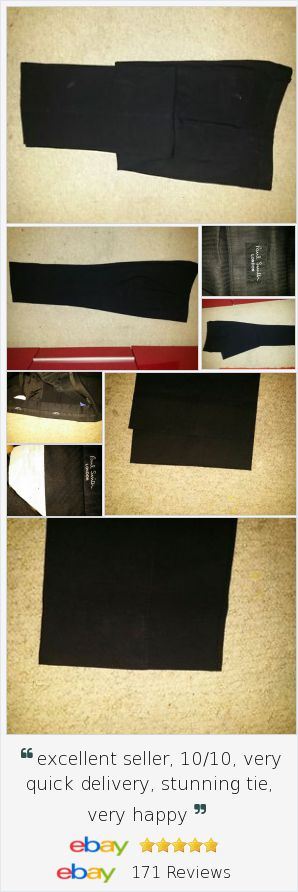 BNWOT Mens PAUL SMITH Black 100% Wool Suit Trouser 35W X 41L Made In Italy