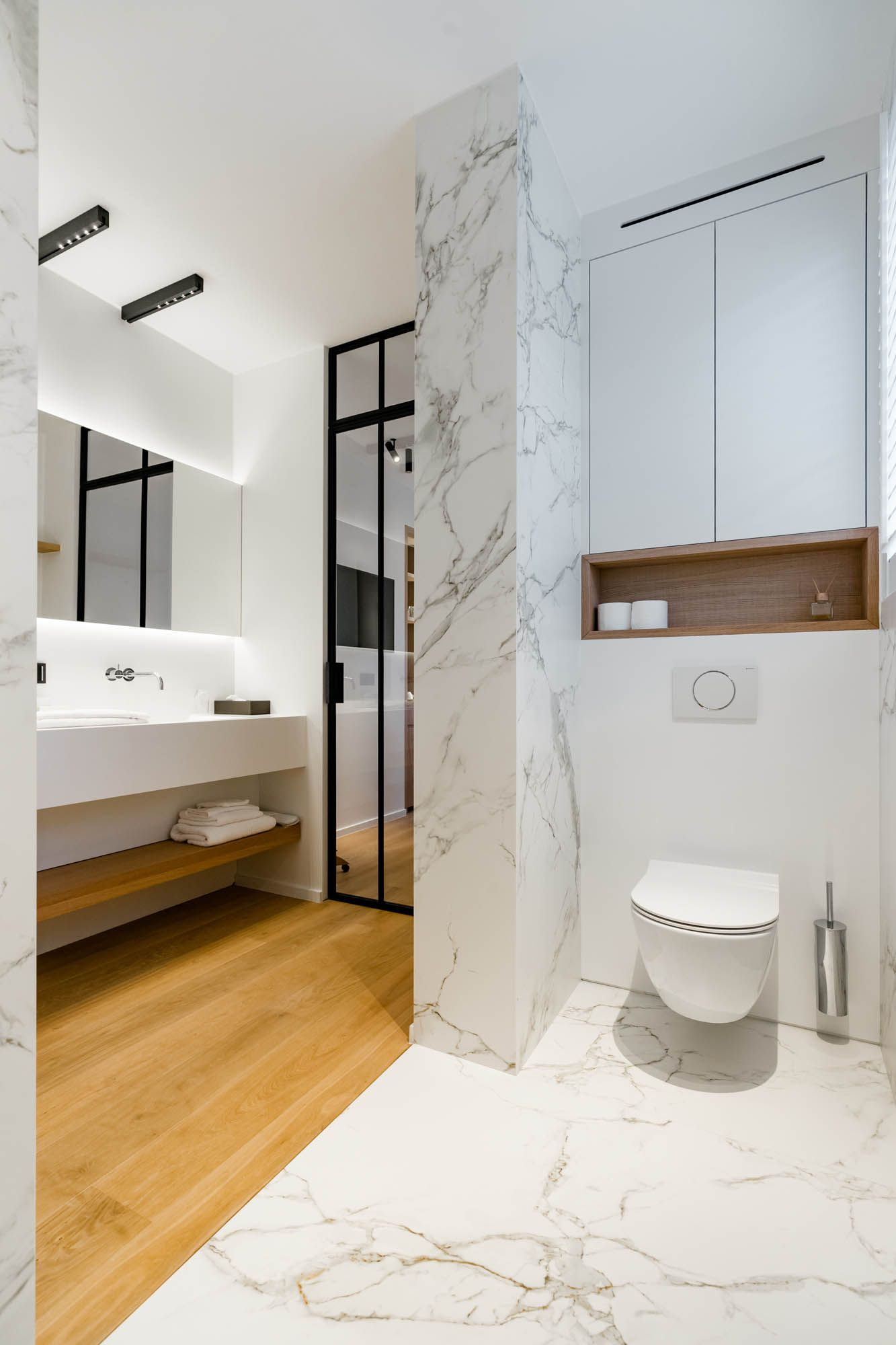 Beautiful Bathroom Ideas Marble And Wood Steel Door Toilet Restroom Lighting Nuit Led Bathroom Design Luxury Guest Bathroom Remodel Diy Bathroom Design
