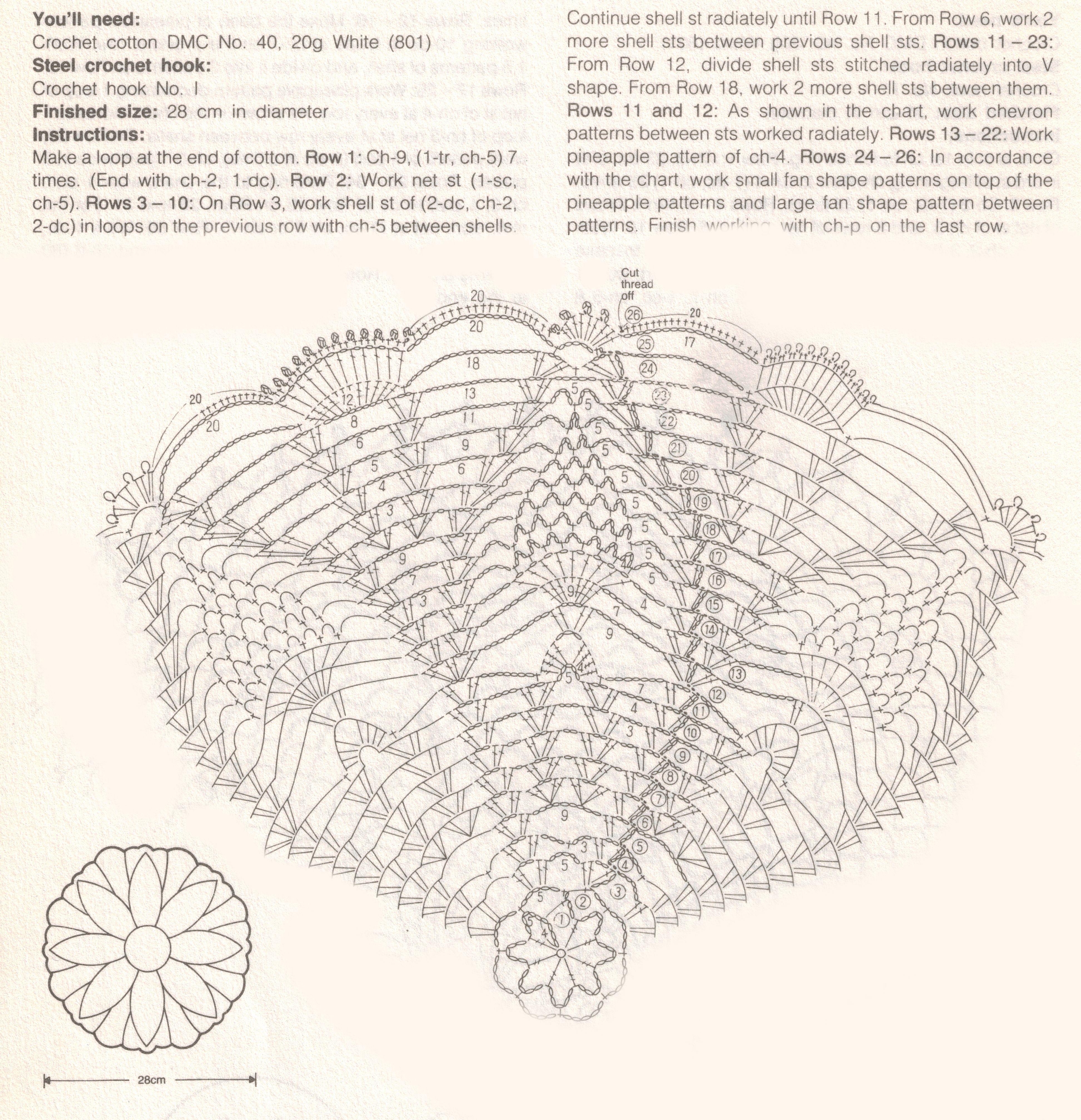 PineappleDoily-4-Chart.jpg (3888×4029)   Ananas/Pineappel ...