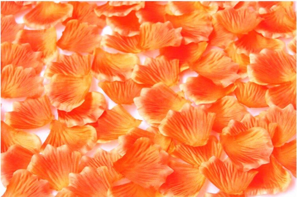 orange Colors 100pcs  Silk Flower Rose Petals Wedding Party Decoratio 4.5cm #No