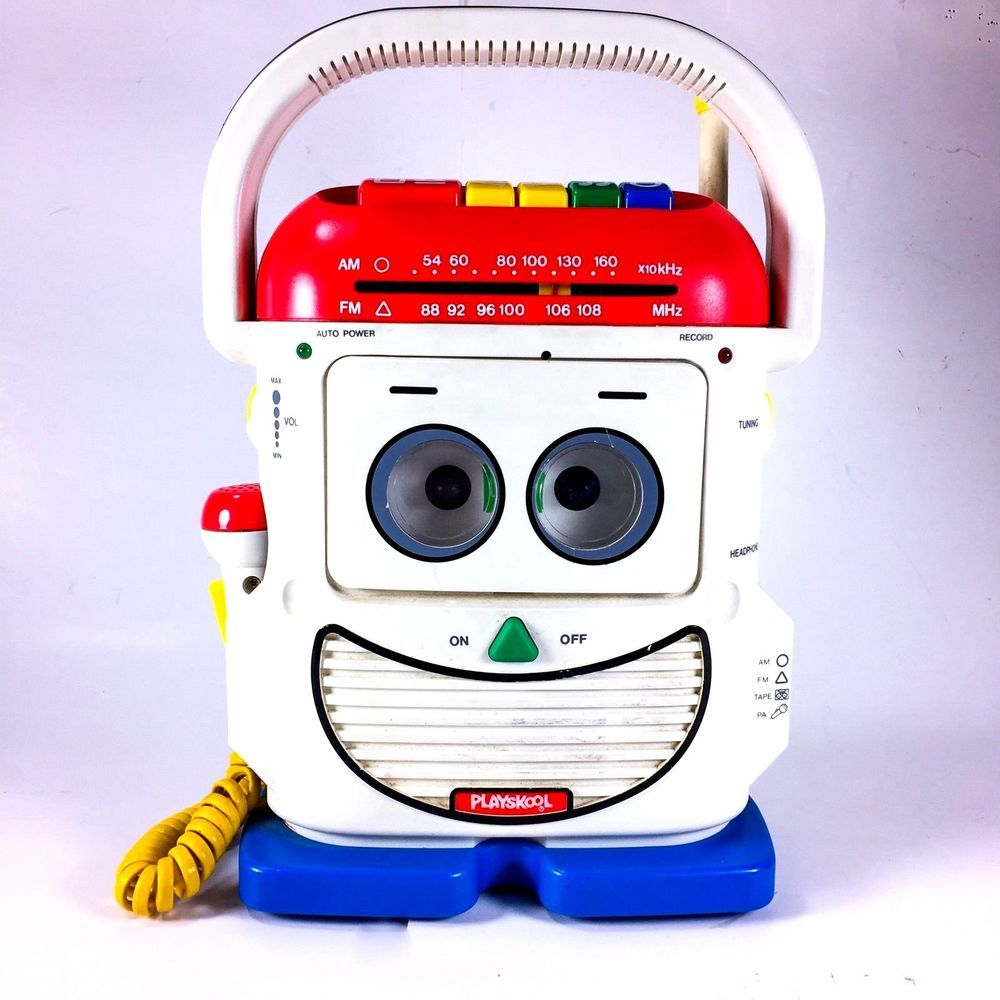 VINTAGE PLAYSKOOL TOY STORY MR MIKE VOICE CHANGER CASSETTE PLAYER