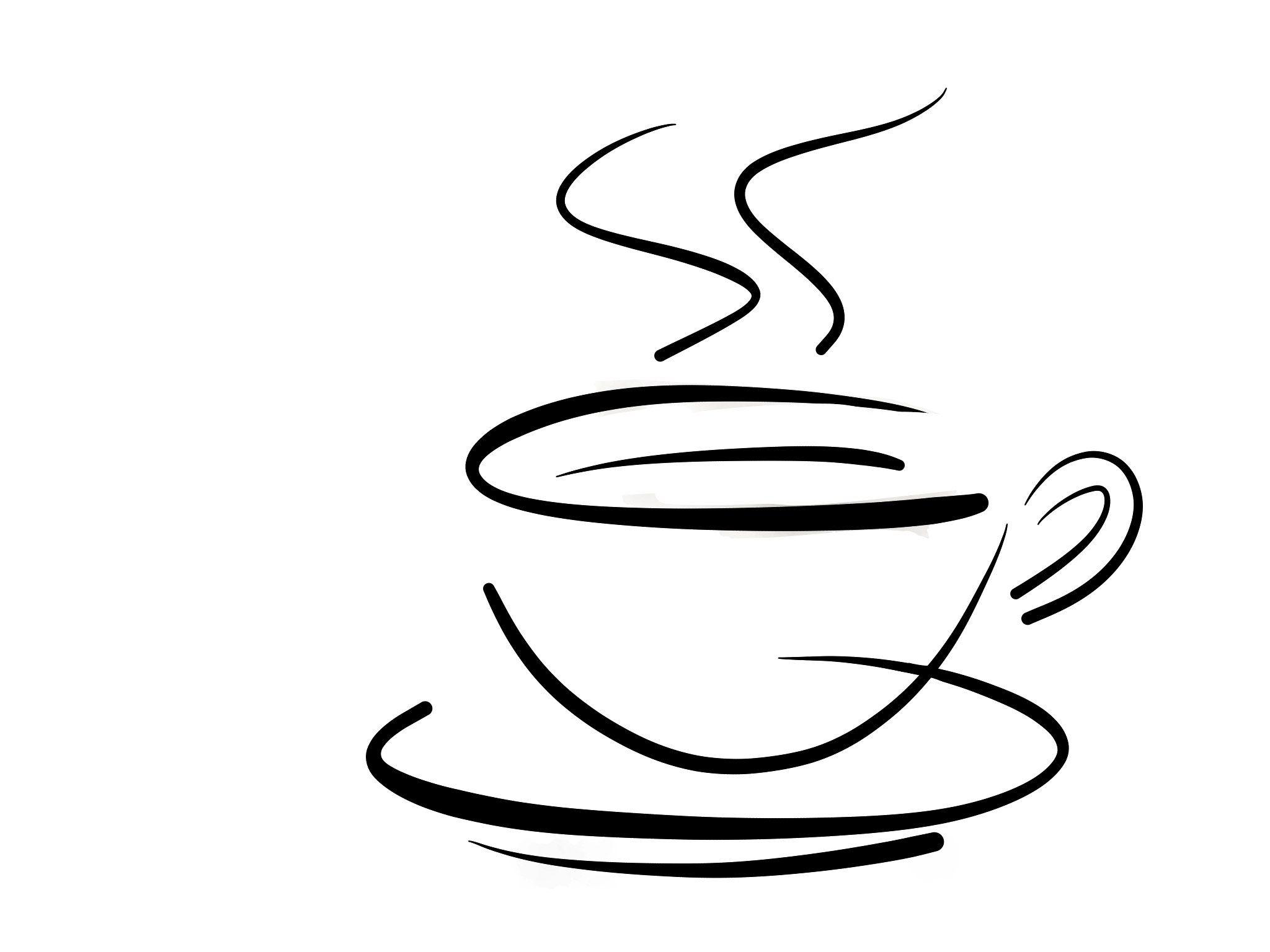 Чашка кофе картинки черно белые, днем учителя
