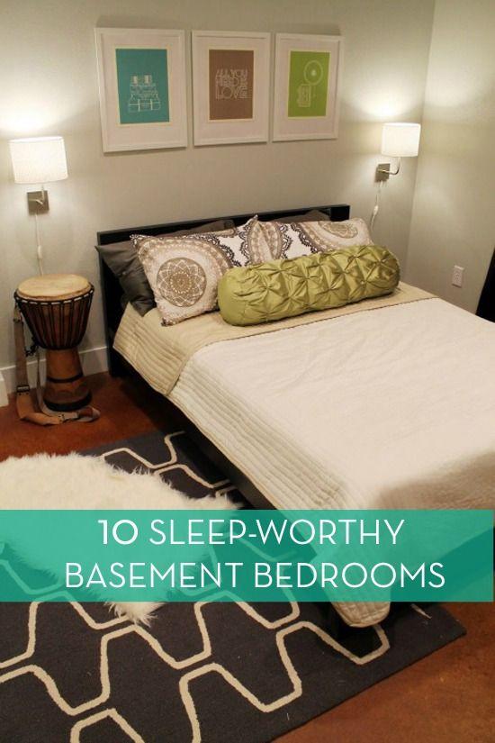 basement bedrooms on pinterest