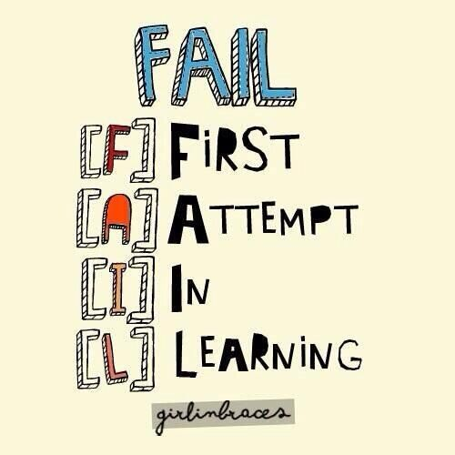 Don T Be Afraid To Fail We Learn The Most From Our Mistakes