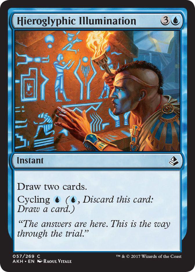 Hieroglyphic Illumination Akh Instant Draw Two Cards