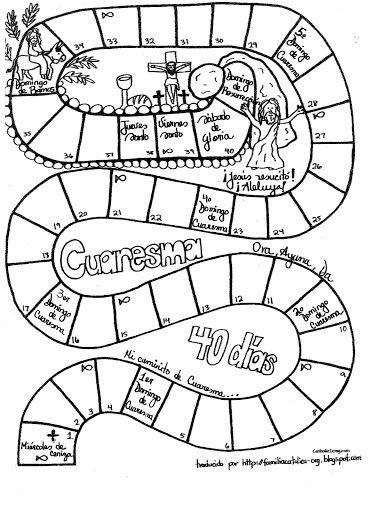 Camino Hacia La Pascua Caminos De Cuaresma 2014 Para Ninos Cuaresma Calendario Para Ninos Catequesis