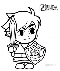 Zelda Skyward Sword Coloring Pages Kids Zelda Birthday Zelda