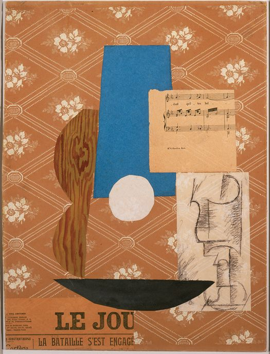 Pablo Picasso Guitar Sheet Music And Glass 1912 Sheet Music