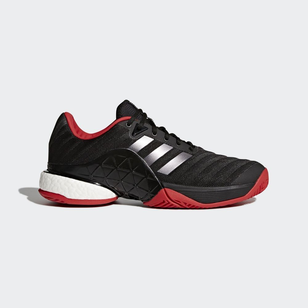 wholesale dealer be212 c722c adidas 2018 Barricade Boost Mens Tennis Shoes Miami Open Black Sneakers  CM7829 adidas