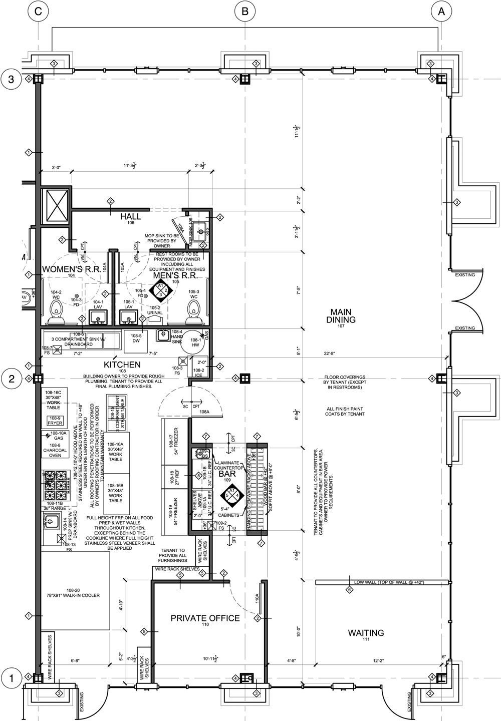 Restaurant kitchen design layout example - Designing A Restaurant Floor Plan Home Design And Decor Reviews