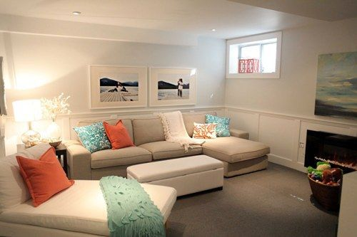 ideas for making a low ceiling in a basement or room feel higher and