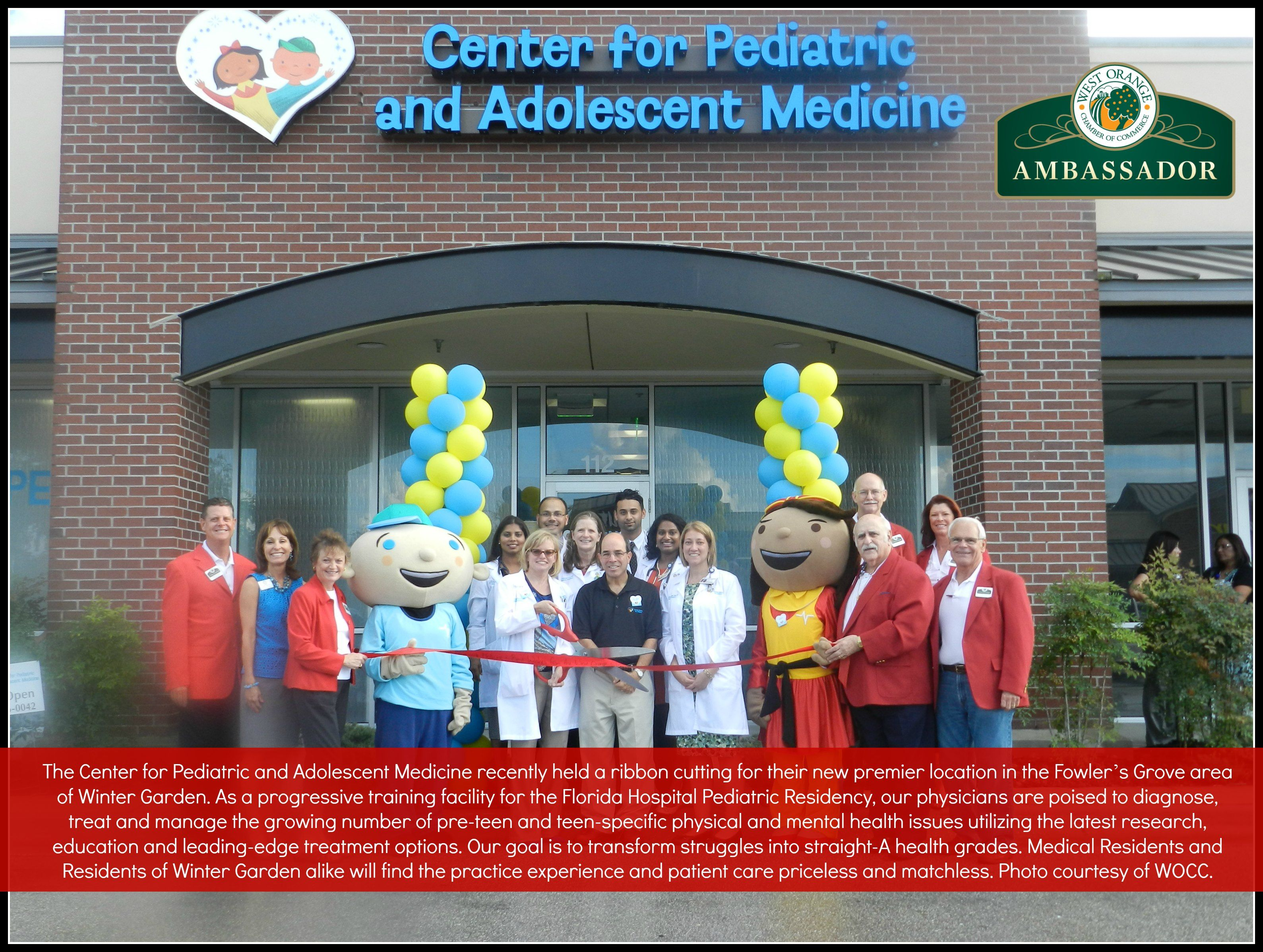 west orange chamber of commerce center for pediatric and