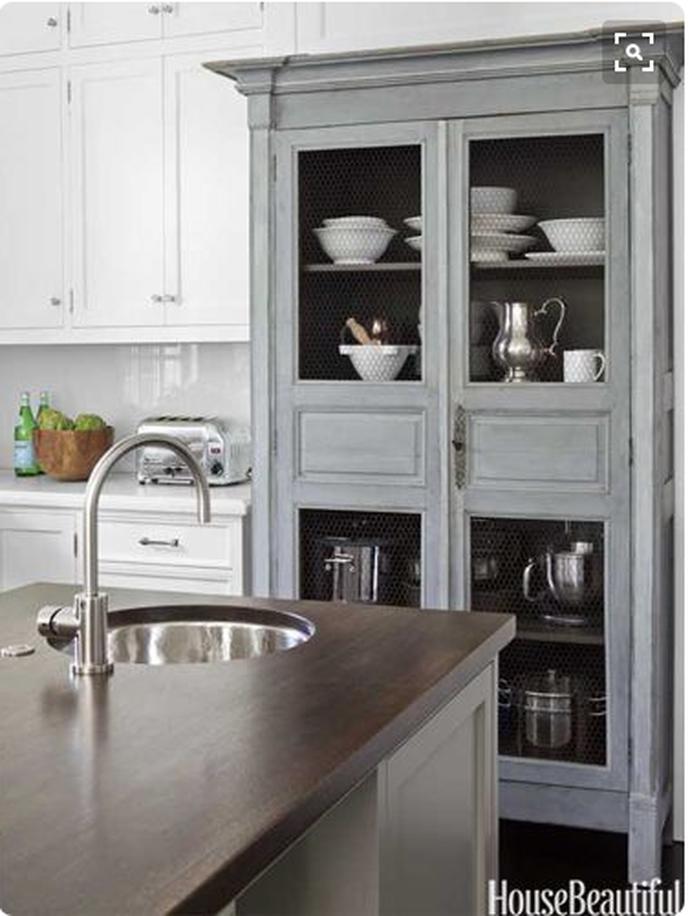 Delicieux Freestanding Kitchen Cabinets, Kitchen Storage Ideas, Furniture In The  Kitchen, Hutch, Distressed