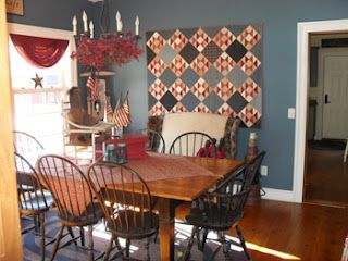 Handcrafted By Michelle Primitive Dining Room Quilts Decor Primative Decor