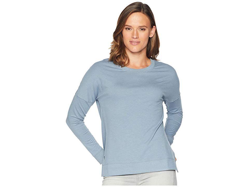 7d33f227b8fbf3 tasc Performance Riverwalk II Sweatshirt (Galaxy Blue) Women's Sweatshirt.  Walking the trail on