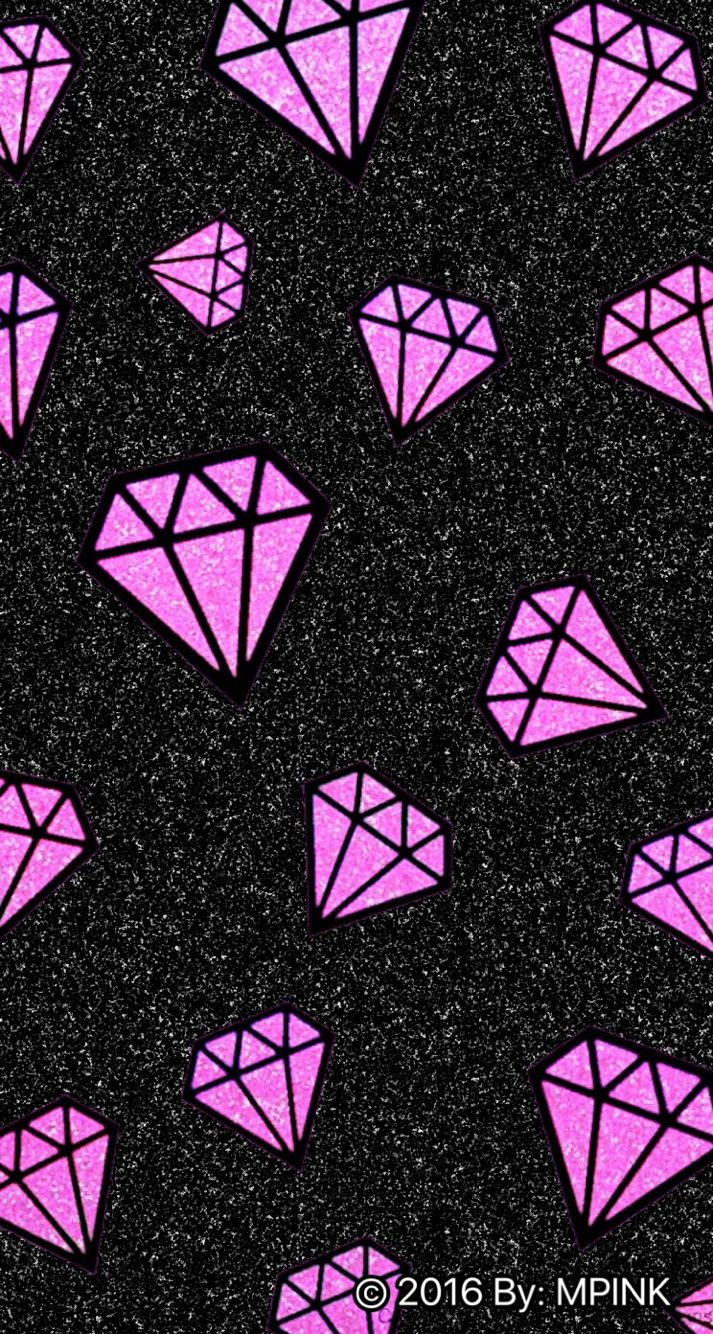 Diamonds Pink black background pictures forecast to wear for winter in 2019