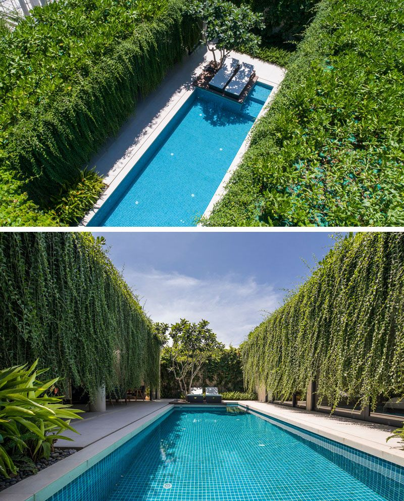 Hanging Gardens Create A Private Oasis For These Modern Villas is part of Hanging garden, Garden pool, Garden villa, Swimming pools, Pool, Outdoor living design - MIA Design Studio has recently completed 'Wyndham Garden Phu Quoc', a collection of modern houses in Vietnam, that feature expansive hanging gardens