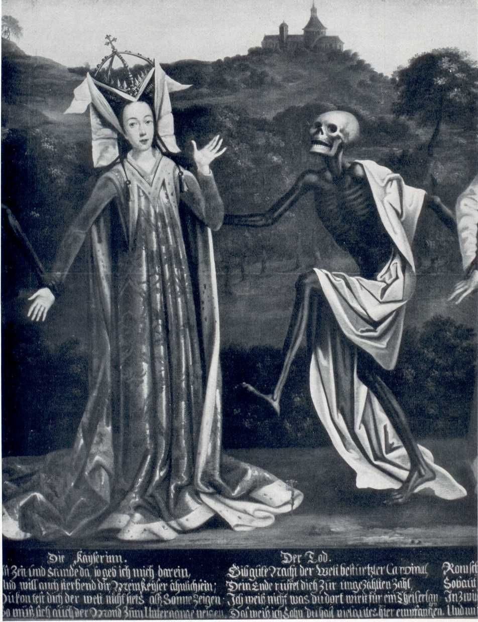 Lubeck Dance of Death: Death and the Empress