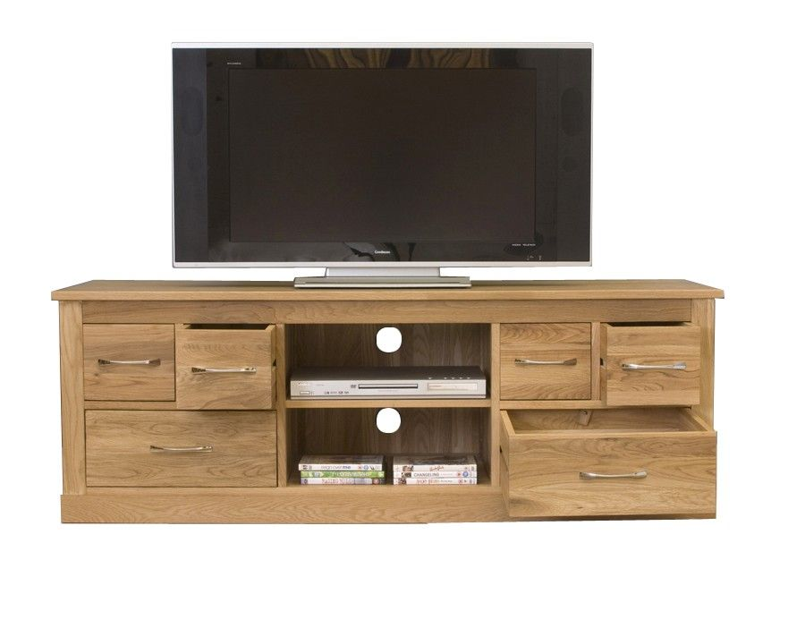 this mobel oak widescreen television cabinet offers plenty of useful storage