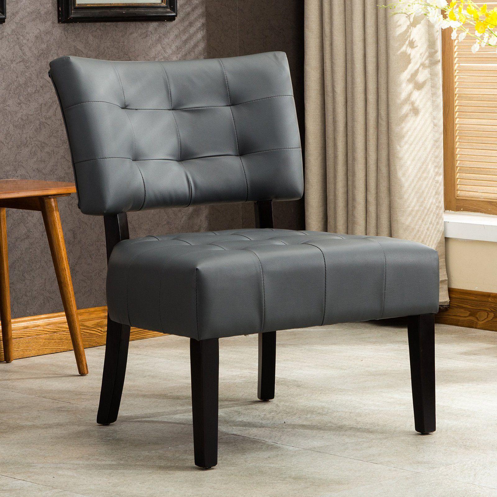 Astonishing Roundhill Furniture Blended Leather Tufted Oversized Accent Inzonedesignstudio Interior Chair Design Inzonedesignstudiocom