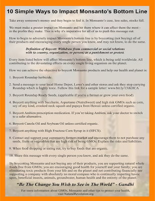 10 Simple Ways To Boycott Monsanto With Images Simple Way