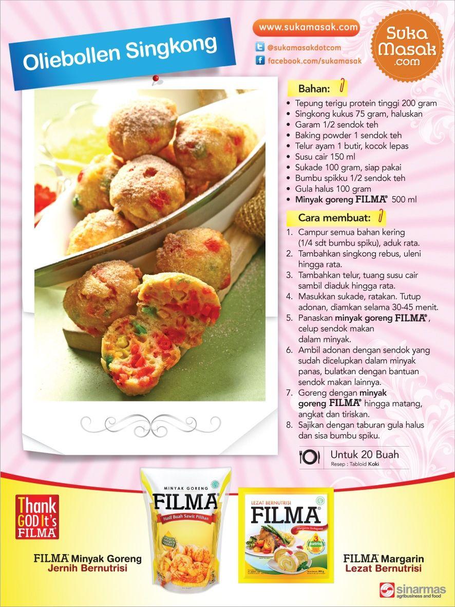 Resep Olliebolien Singkong Filma Dan Filma Marg Di Tabloid Koki Sponsored By Sukamasak Com Resep Koki Masakan
