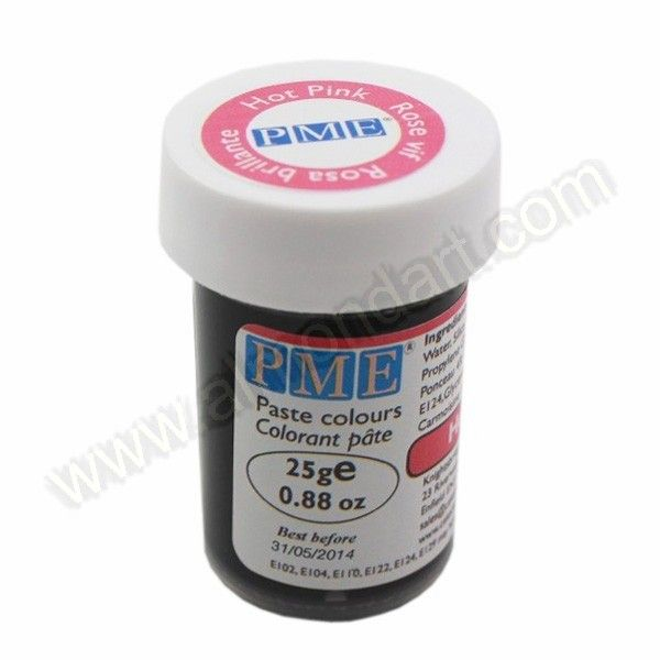 Hot Pink - PME Paste Colour - 25g | New Products | Gel food ...