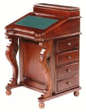 Reproduction Solid Mahogany Davenport Desk Bútor Lakberendezés