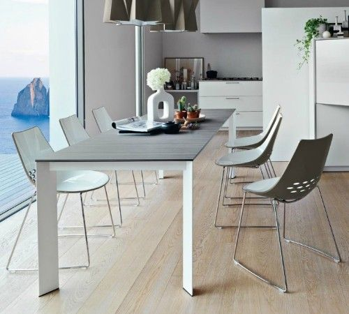 Baron ml130 extendable table by calligaris modern dining for Calligaris baron