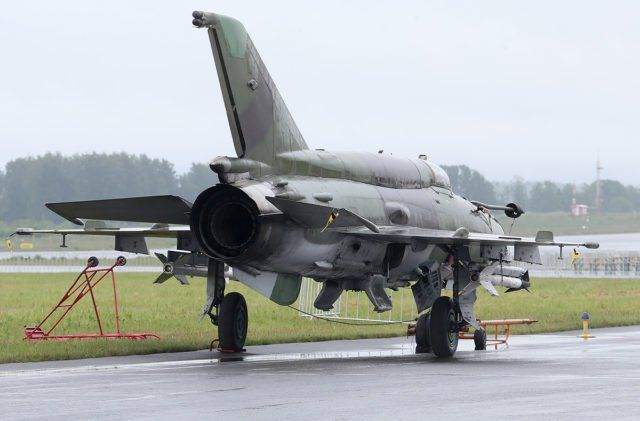 Finnish Air Force Mikoyan-Gurevich MiG-21 at Tour-de-Sky airshow at Kuopio, Finand. (Photo by Fyodor Borisov/Transport-Photo Images)