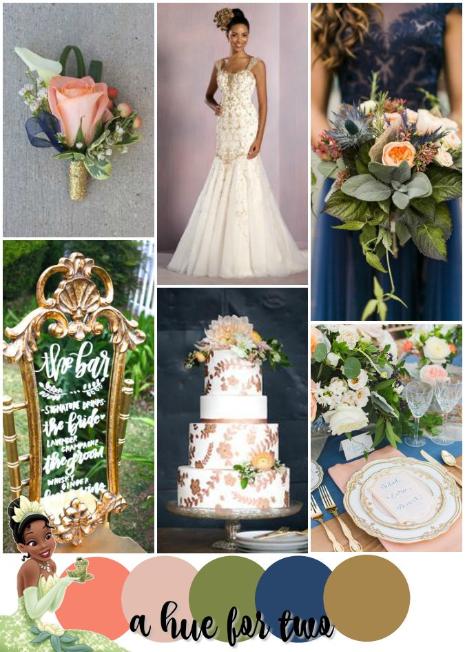 Tiana-Inspired Disney Wedding - The Princess and the Frog - Peach ...