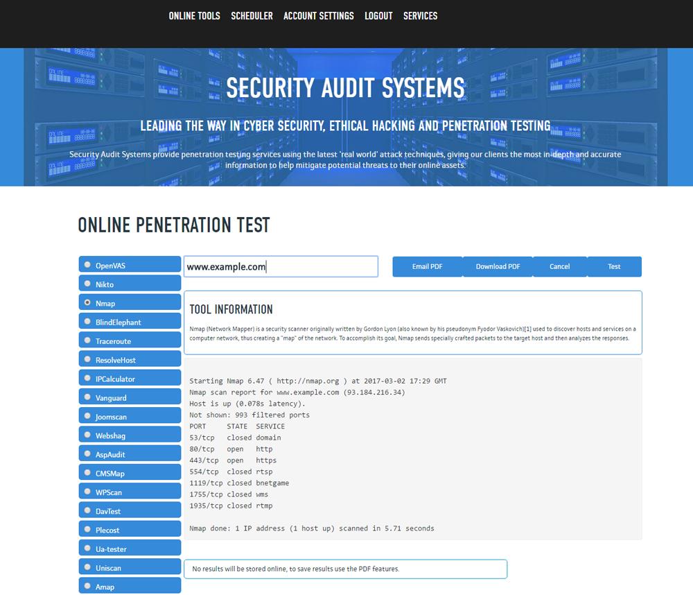 Tools testing website penetration