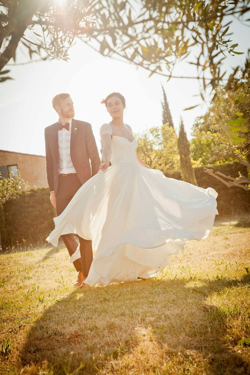 A Reem Acra Gown for a Flower Filled and Rustic Outdoor Wedding in the South of France | Love My Dress® UK Wedding Blog