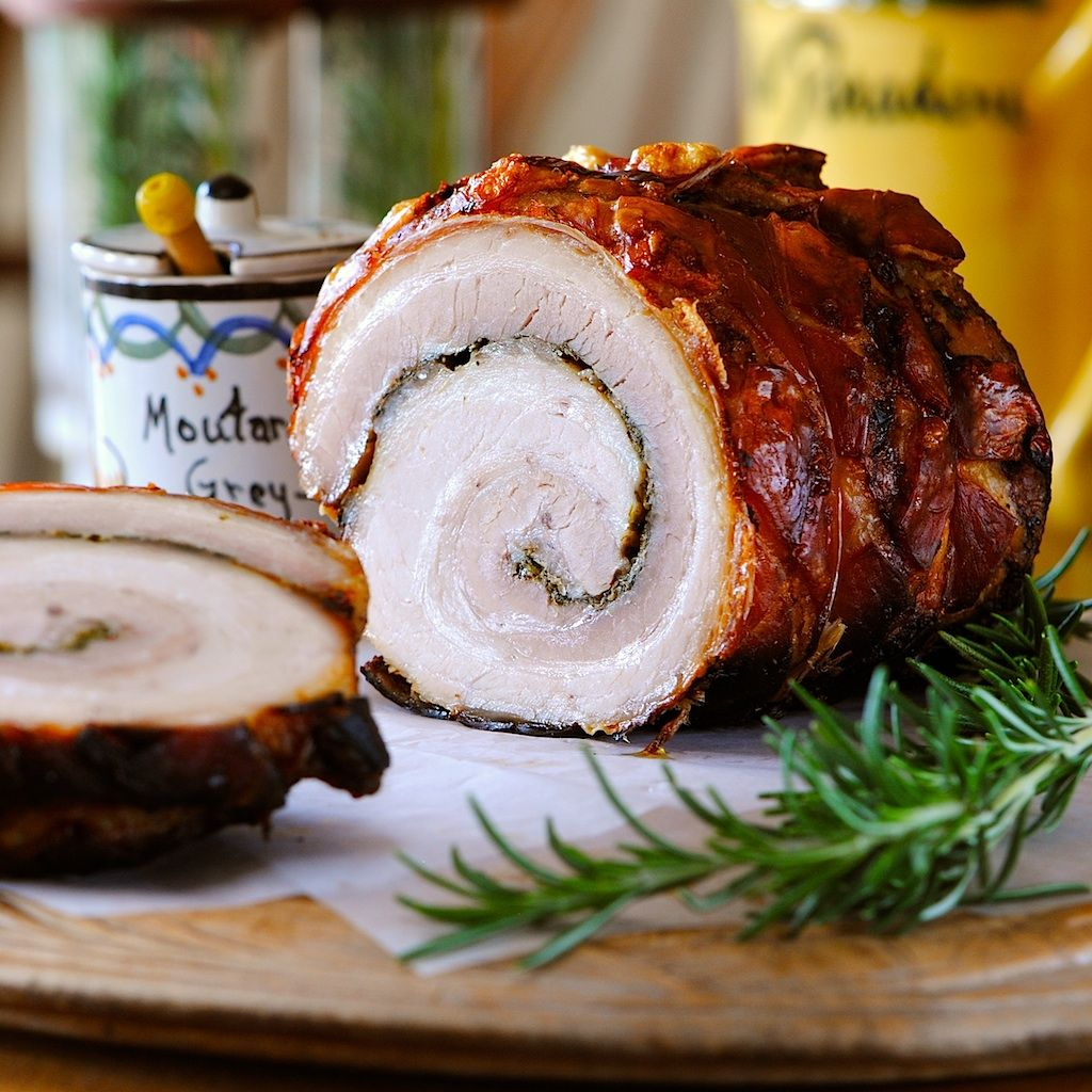 JULES FOOD...: Rolled and Roasted Pork Belly with Fresh Herbs