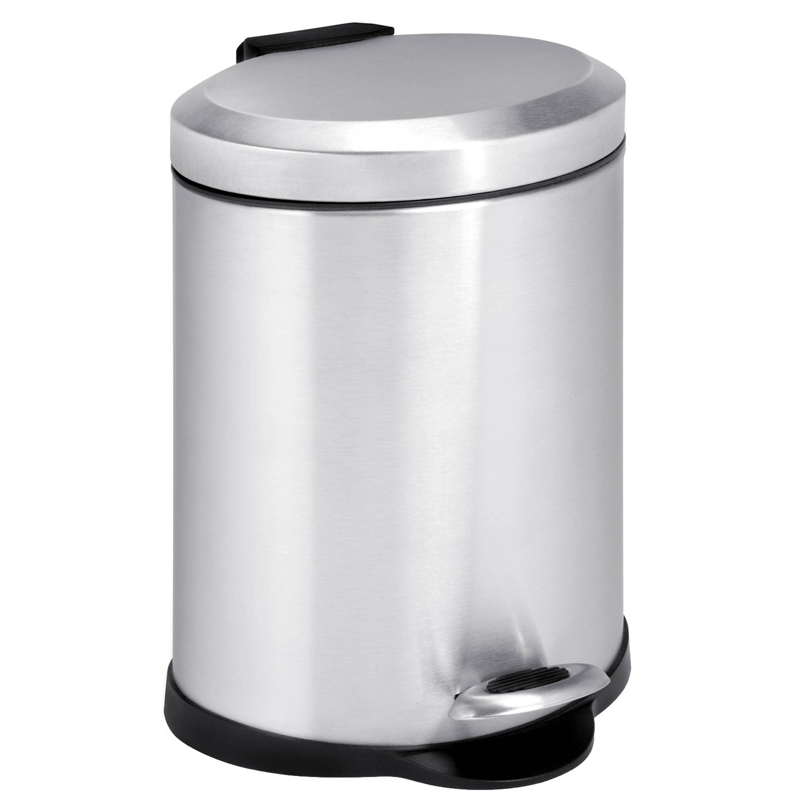 Honey Can Do Oval Stainless Steel Step 1 Gallon Trash Can