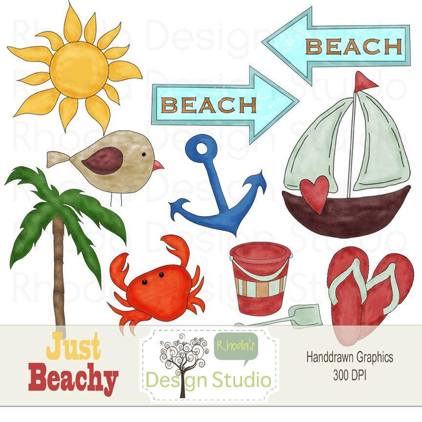 Beach Clip Art Ocean Elements Digital Images