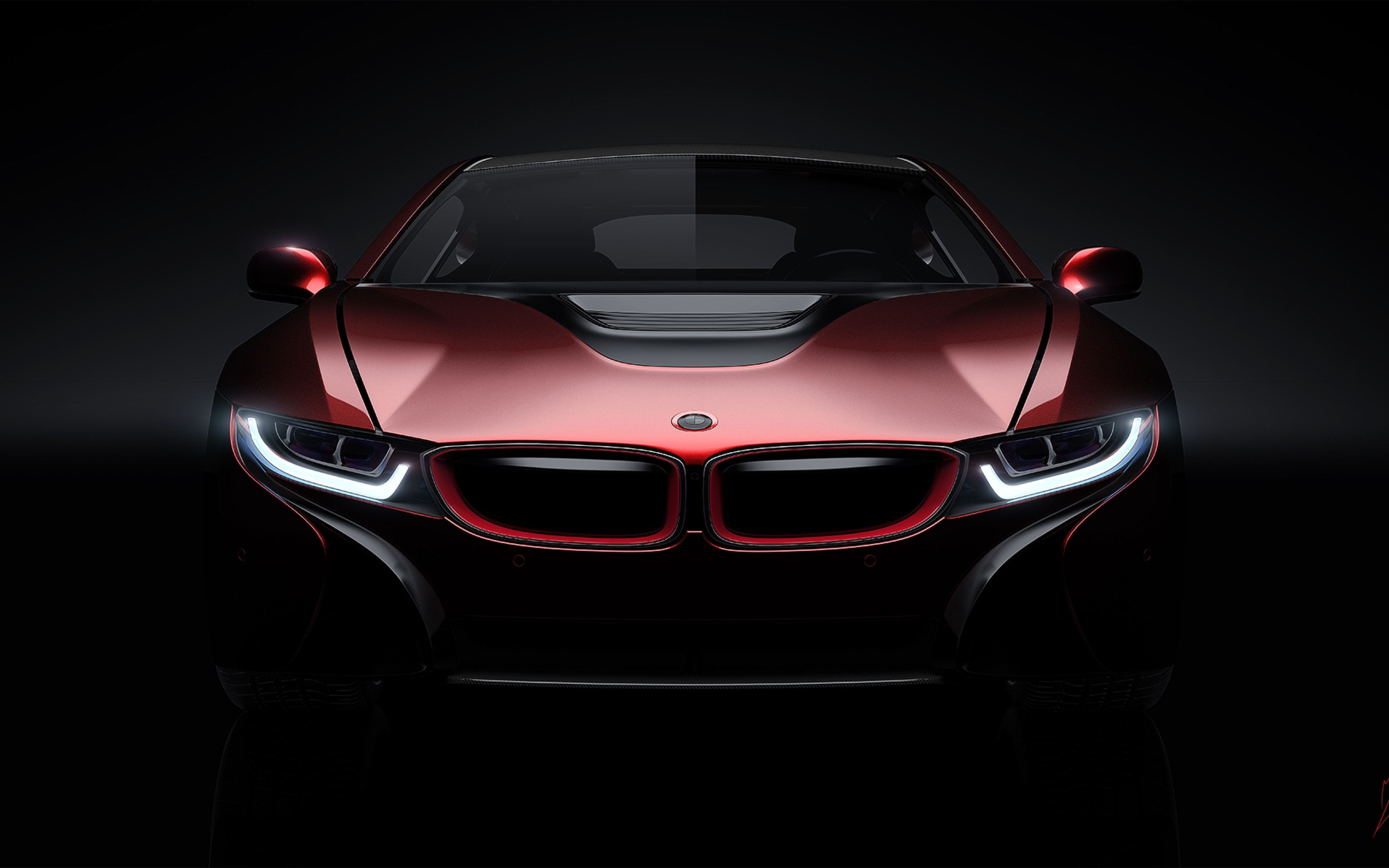 bmw black i8 front | download wallpaper 3840x2400 bmw, i8, concept