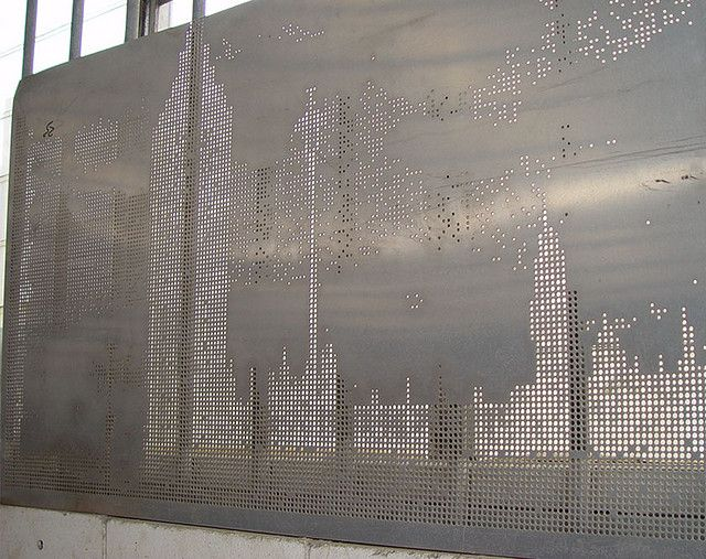 Perforated Metal Sun Screen By Image2punch By Perforated