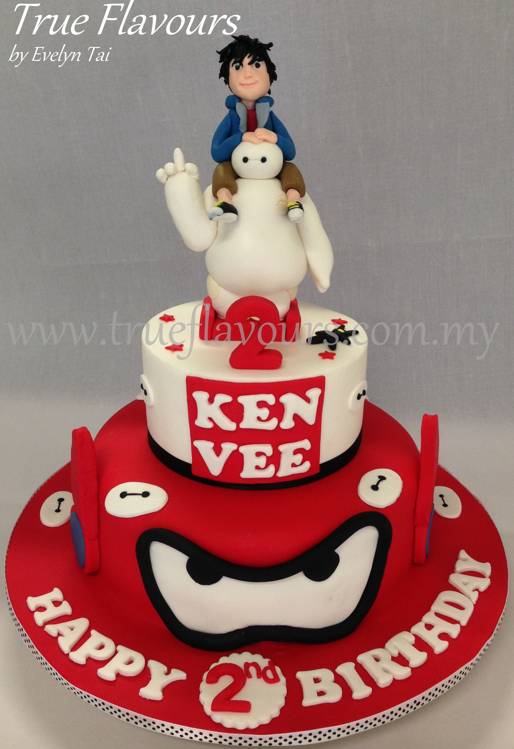 Big Hero 6 Cake Hiro Hamada Baymax Birthday Cake Kids Cake
