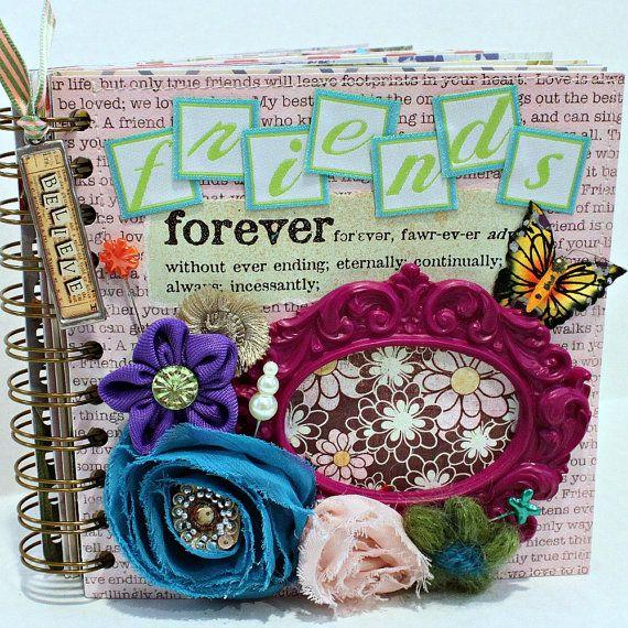FRIENDS FOREVER AZ Friendship Scrapbook Photo Album By