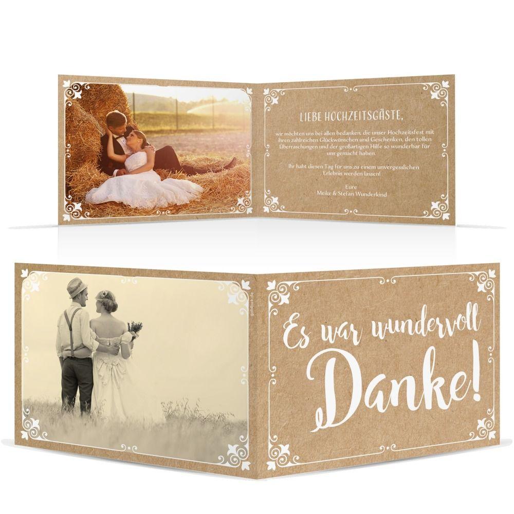 Dankeskarte Traumhafter Text Dankes Karten Hochzeit