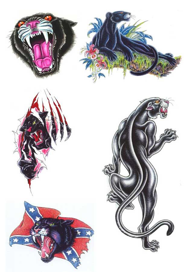 Panther tattoo design tattoo pinterest tattoo for Carolina panthers tattoos