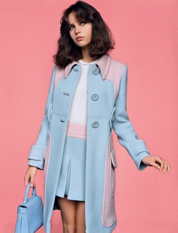 Meet Miss Jones | British Vogue February 2014 | Felicity Jones shot by Alasdair McLellan #FelicityJones